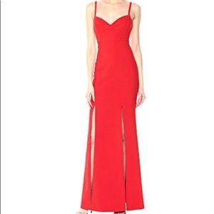 Likely Alameda Red Gown Maxi Dress